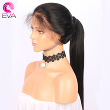 Eva Hair 250% Density 360 Lace Frontal Wig Pre Plucked With Baby Hair Straight Natural Hairline 10″-22″ Brazilian Remy Hair Wigs