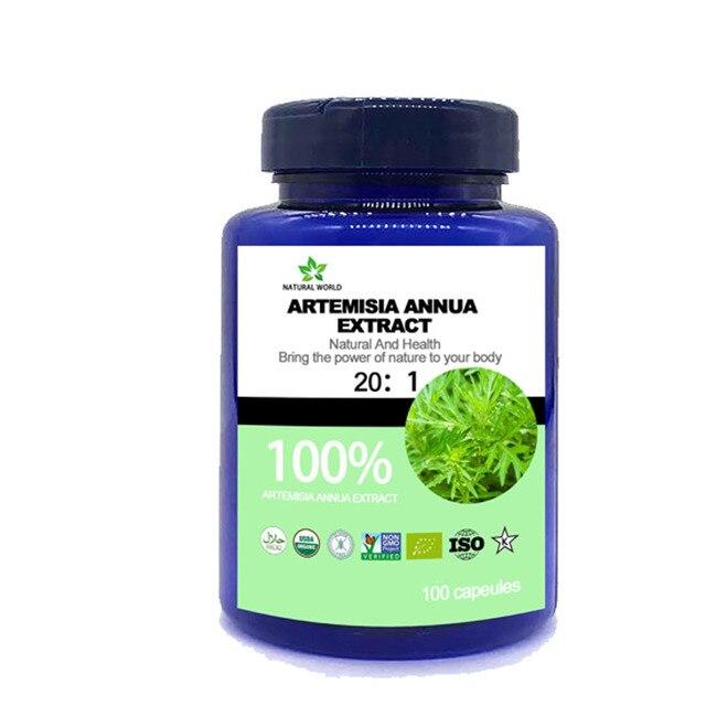 Natural  Artemisia Annua Extract  20:1  100pcs /bottle 100%  Artemisia Annua Extract 20:1