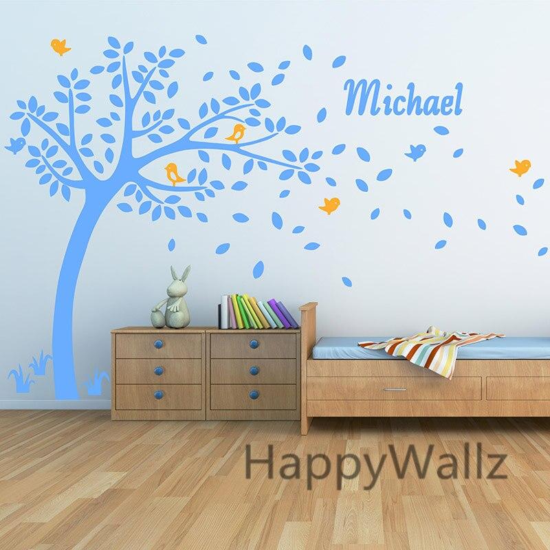 ჱNombre personalizado árbol etiqueta de la pared niños dormitorio ...
