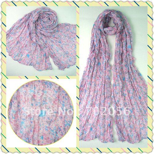 Womens Flower Voile   Scarf     wraps   shawls 20pc/lot #2118