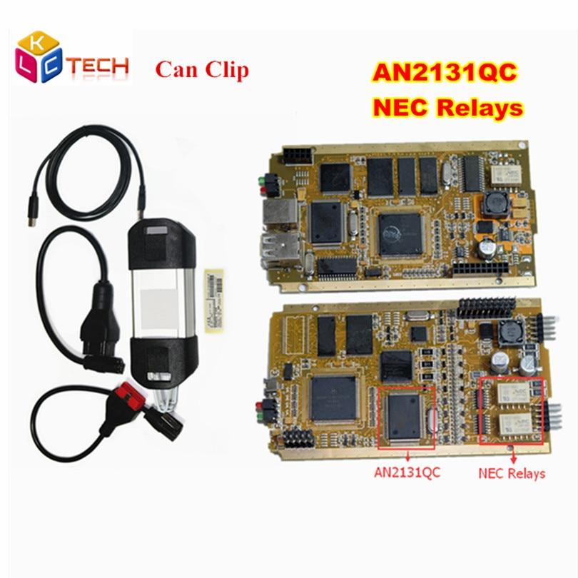 Цена за Новые Renault может закрепить V168 OBD2 инструмент диагностики может клип для Renault с AN2131QC чип + качество NEC Реле Бесплатная доставка