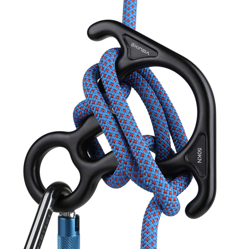 35KN Rescue Figure 8 Descender Belay Device Climbing Canyoning Aerial Dance