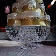 """Подставка для свадебного торта прозрачные хрустальные бусины акриловые размер основного стола: диаметр 1"""" x 1,6 метров украшение торта поставка"""