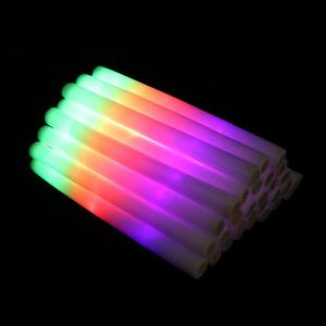 Image 4 - 30pcs LED Glowing Crafts Multicolor LED Foam Glow Stick Fluorescent Light Sticks For Concert Party Wedding Party Club Bar A35