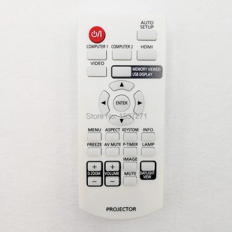 Replacement Remote for PANASONIC PT-LB90NTE PT-LW80NTE PT-RW330 PT-RW330E Projector Black