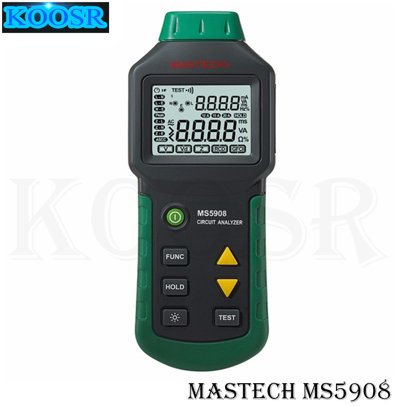 Mastech MS5908 Ture RMS Circuit Analyzer Tester Compared with Ideal Industries Suretest 61 164CN