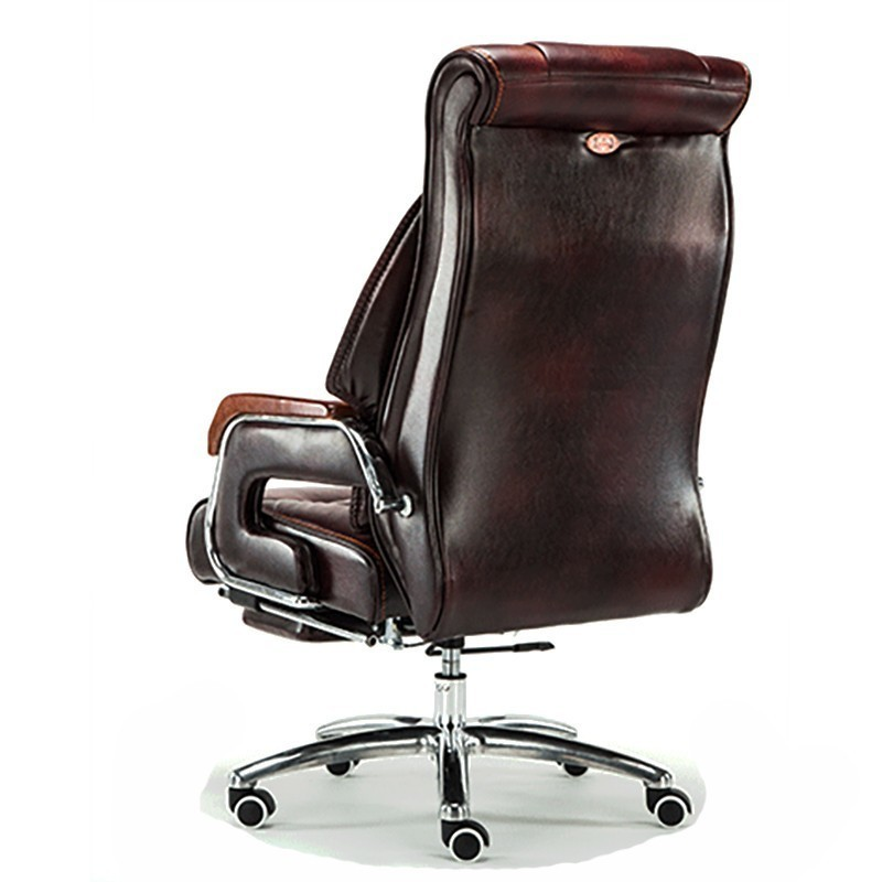 High Quality Cowhide 8770 Silla Gamer Gaming Boss Poltrona Chair With Footrest Genuine Leather Can Lie Wheel Massage