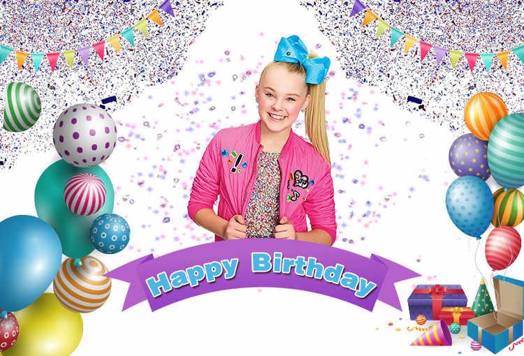 Sensfun Бантинг Красочные воздушные шары для дня рождения фон Jojo Siwa Праздничная фотография фоны индивидуальные 7x5ft винил