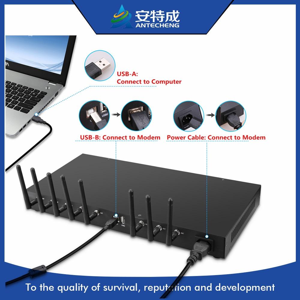 Professinal Factory 1U USB Q24PLUS Wavecom Multi Sim Gsm Modem Support AT Command 8 Port Bulk Sms Modem Pool