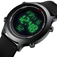 KDM Watches Men Sport LED Display Quartz Watch 30m Waterproof Wristwatch Silicone Strap Military Watches Male Relogios Masculino цена в Москве и Питере