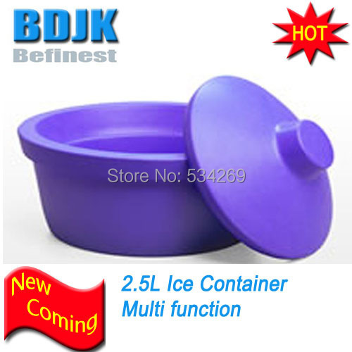2.5L Icehome ICE Bucket With Lid, Round Purple, Lab Coolers behrens 412w 12 qt combination round mop bucket with wringer
