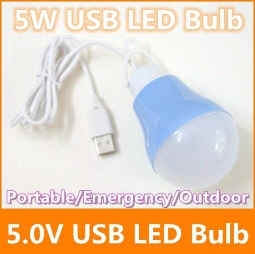 5W 5730 SMD led bulb 5V USB Portable use to plug into power bank led lamp White Outdoor travel camping emergency led light