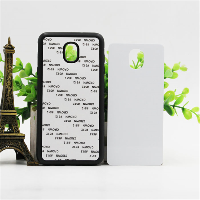 2D TPU +PC Sublimation Case For Samsung Galaxy J5 J7 2017 J3 2018 J7 Plus Blank Printed Cover with Aluminum Metal Sheet 10pcs
