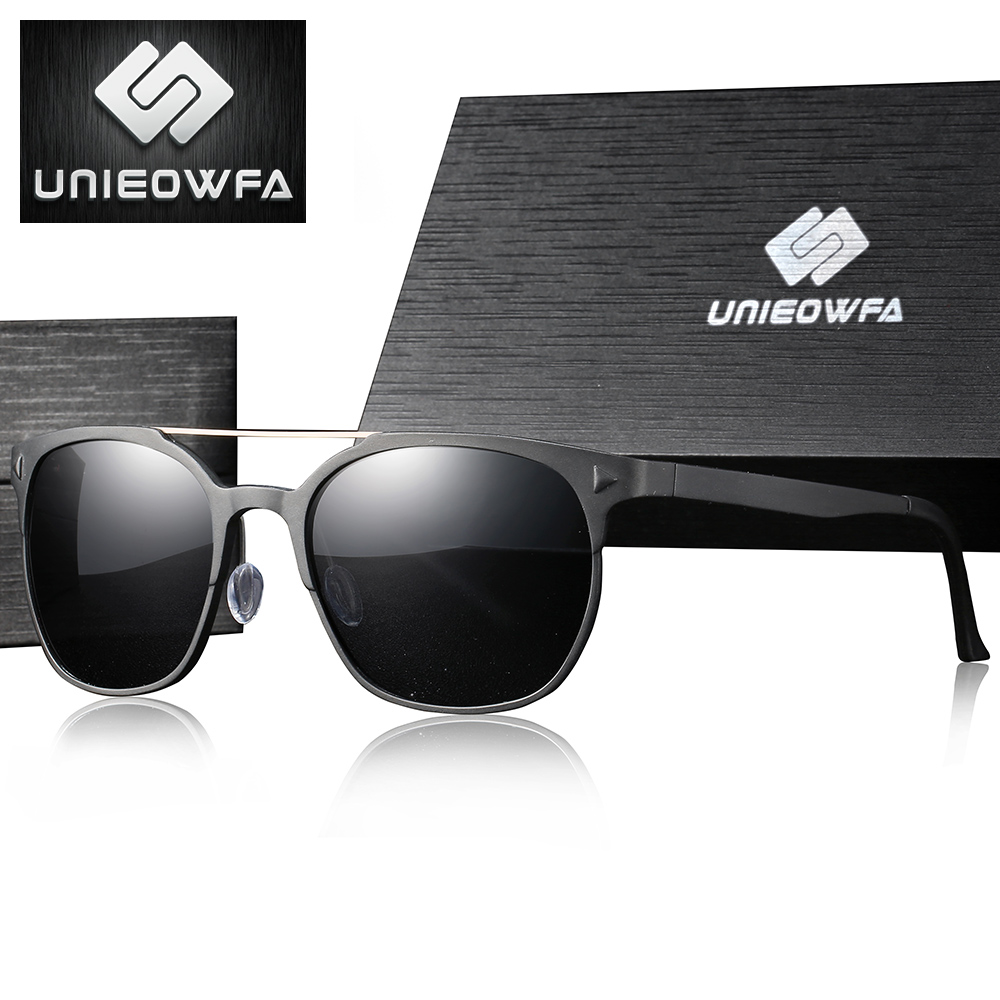 UNIEOWFA Aluminum Magnesium Prescription Sunglasses Men Polarized Myopia Optical Prescription Sun Glasses Male Square Eyeglasses