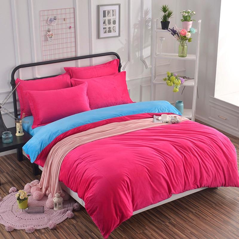 3/4pcs Quality Crystal Velvet Duvet Cover Set Home Bedding Set Solid Color 1.2m 1.5m 2m Fitted Bed Sheet Pink Customized #3993/4pcs Quality Crystal Velvet Duvet Cover Set Home Bedding Set Solid Color 1.2m 1.5m 2m Fitted Bed Sheet Pink Customized #399
