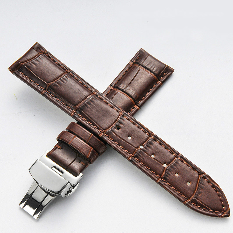 b87c12b8c Butterfly Deployment Clasps Watch Band 18mm 20mm 22mm 24mm Genuine Leather  Watch men Straps Bracelets Promotion WATCHBAND-in Watchbands from Watches  on ...