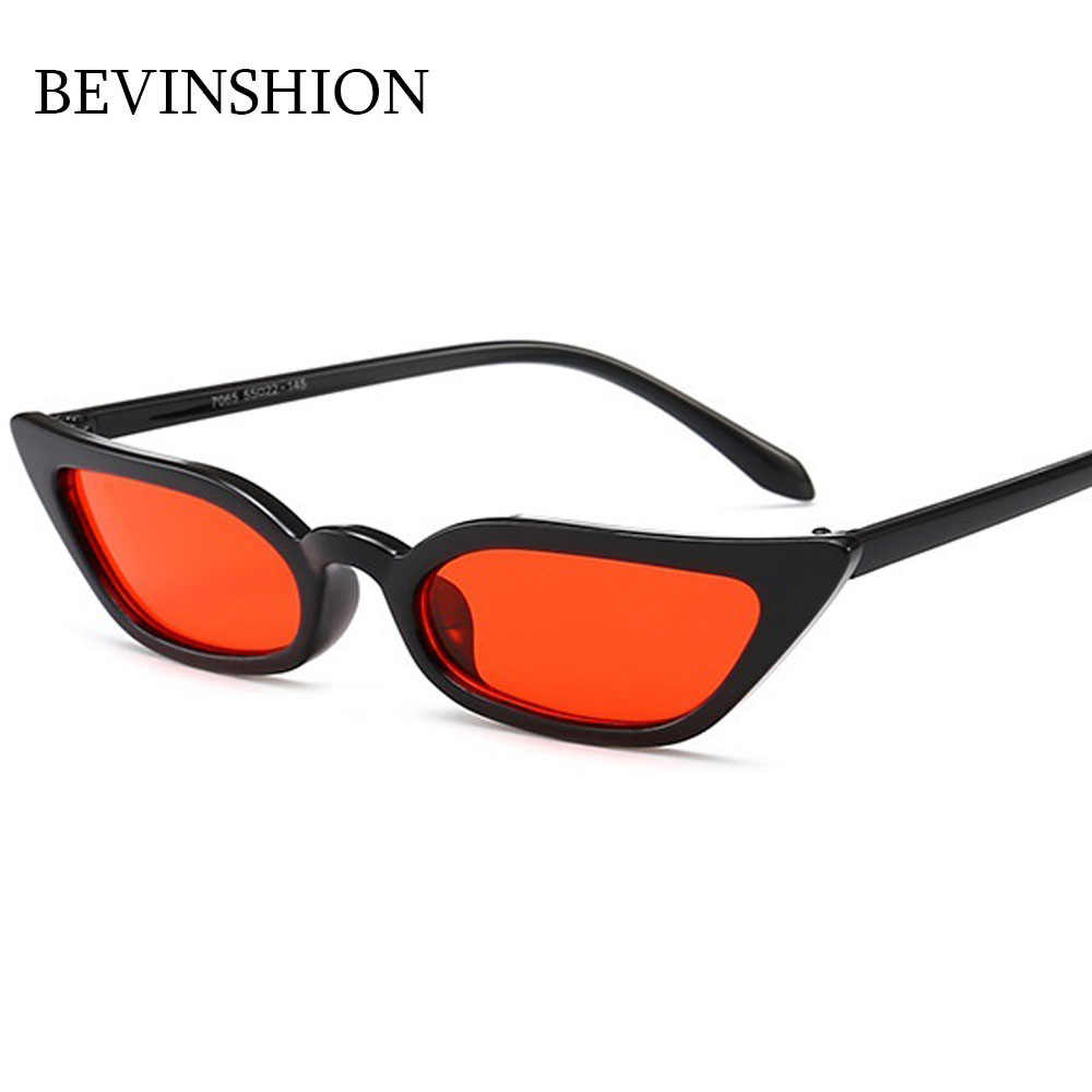 c2b17644d6 ... Brand Small Mini Cool Women Sunglasses Cat Eye Designer Sexy Cute Red  Pink Yellow Lens Vintage ...