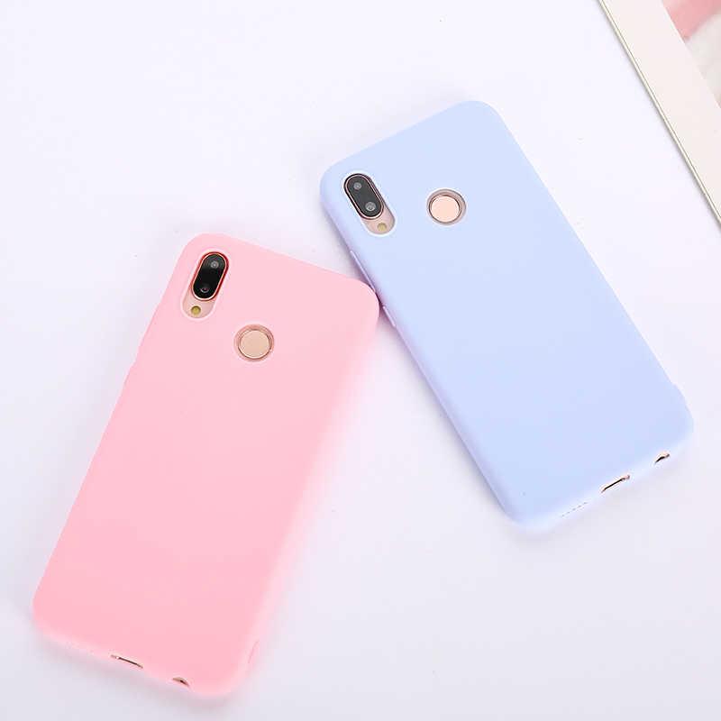 Candy Kleur Case voor Huawei Y6 Y7 2019 P30 P20 P9 P10 Mate 10 Lite Honor 10 9 Lite 7C 20 Pro 8X 8C P Smart Soft Silicon Gevallen