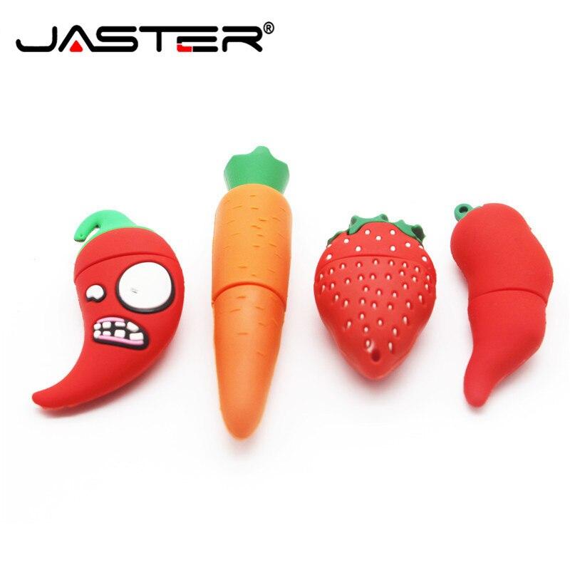 JASTER Adorable Mini Vegetables And Fruit Memorias Stick Pen Drive 4GB 8GB 16GB 32GB 64GB Pendrive USB 2.0 Clef USB USB Flash