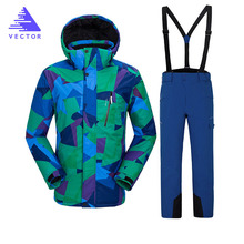 цена на Ski Jacket Men Waterproof Snow Jacket Thermal Coat For Outdoor Mountain Skiing Snowboard Jacket Plus Size Brand