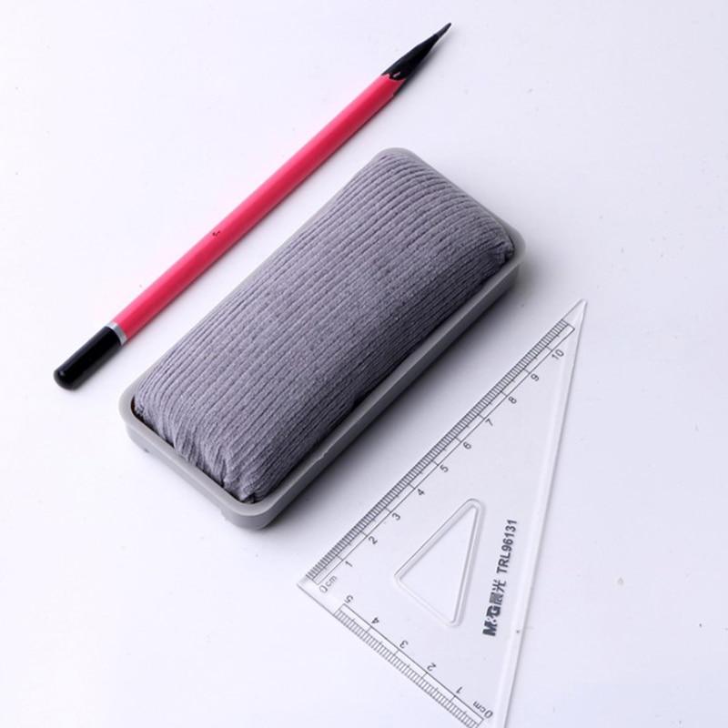Grey Velvet Magnetic Whiteboard Eraser Office Erasable Blackboard Cleaner Magnetic Board Marker Whitebord Pen Wipe Chalk Eraser