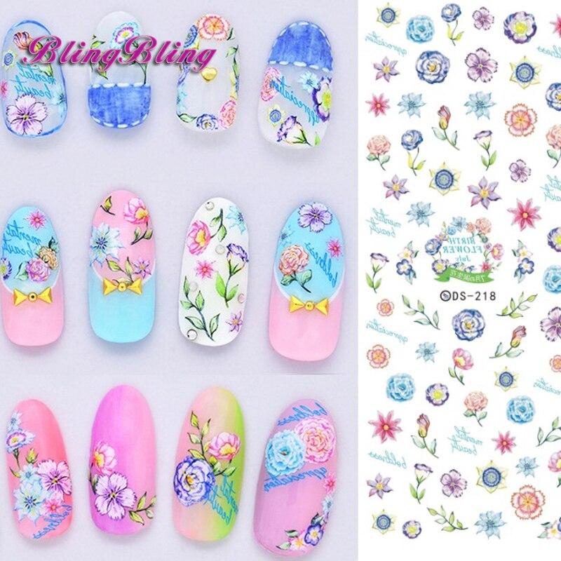 Aliexpress Buy 2 Sheet Flower Nail Art Water Decals