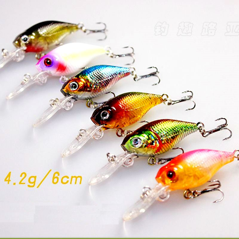 Image 2 - 6PCS High Quality Fishing Tackle Crank Bait Wobblers Iscas Artificiais leurre peche Jerkbait Fishing Crankbaits Lure 72mm 4.2g-in Fishing Lures from Sports & Entertainment
