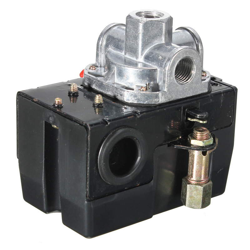 Heavy Duty Pressure Switch Control Valve Air Compressor 90-120PSI 4 Port 26 AMP Compressor Accessories Popular high quality 1pc heavy duty air compressor pressure switch control valve 90 psi 120 psi air compressor switch control