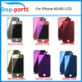 2016 Mirror Colorful LCD Display & Touch Screen Digitizer & Home Button & Back Cover For iPhone 4 4G & 4S touch screen