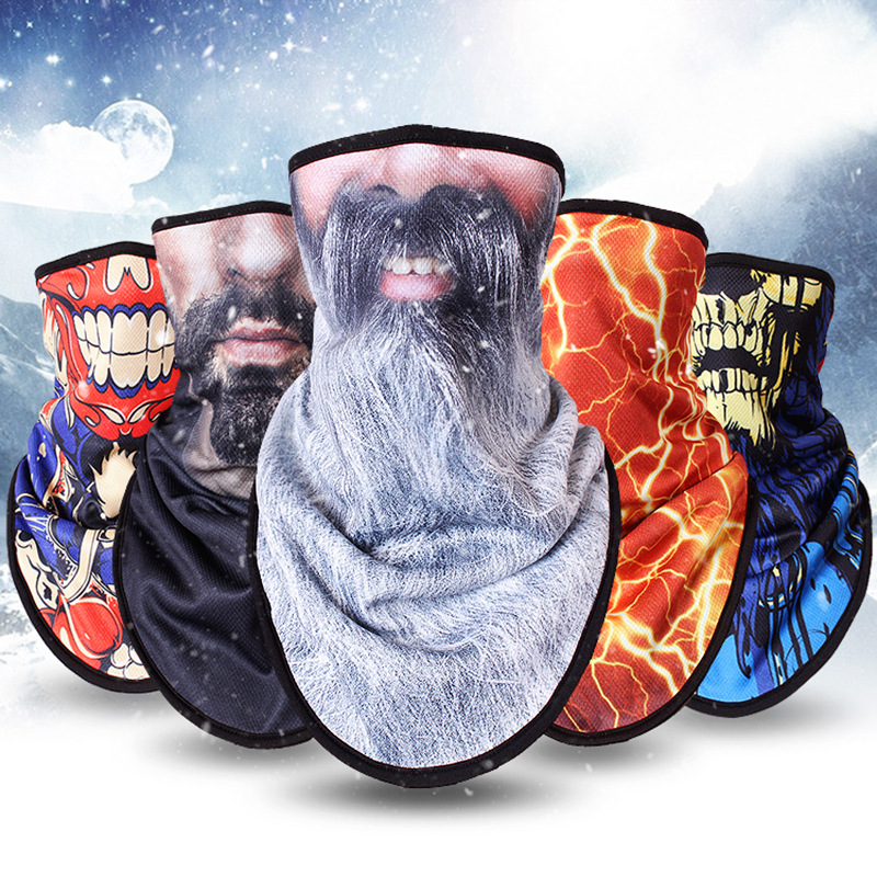 Winter Skiing Mask With Full-face Face Protecting Face Men And Women Warm And Heavy Cycling Equipment