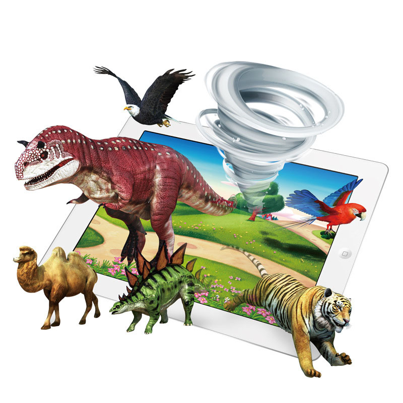 3D Smart Card Book Early Education Cognitive Card AR Learning Card Book Expand knowledge learning For Children