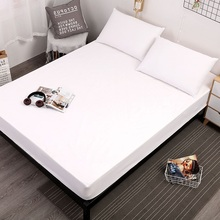 Solid Color Waterproof Fitted Sheet Breathable Mattress Mattress Cover Protector For Bed Wetting Home Decorative 7 Color
