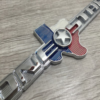 Car Styling 3D Metal 20cm TEXAS EDITION Trunk Boot CHROME Auto Car Emblem TEXAS Side Wing