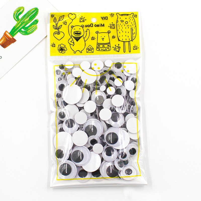 Глаз для игрушек 300 шт. 6-35 мм смешанный пластиковые глаза для кукол задний клей черные глаза используется для мягких кукол аксессуары глазного яблока для игрушек подарки