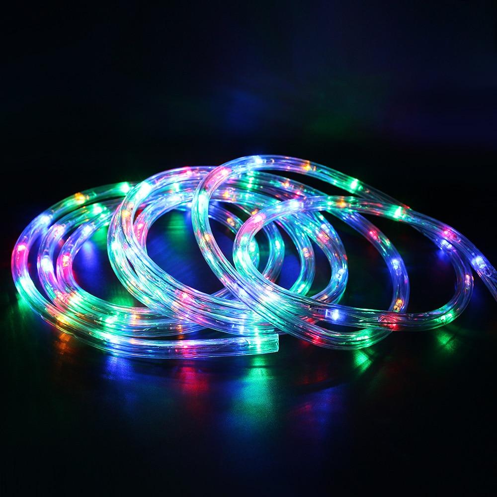 ac220v 20leds m ip67 waterproof rgb led strip christmas decoration lights rainbow tube rope. Black Bedroom Furniture Sets. Home Design Ideas