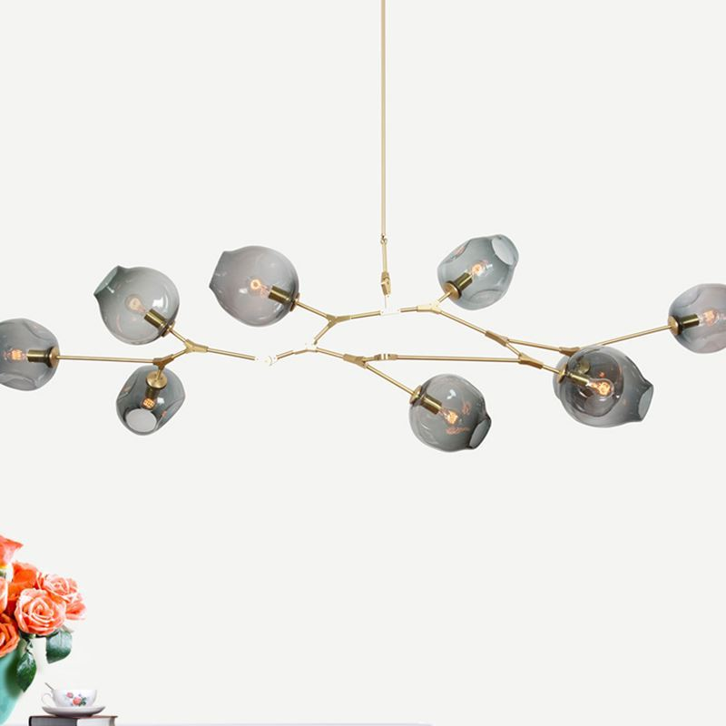 цена на Branching Bubble spider chandelier Retro Loft vintage molecular Crystal Glass Lindsey adelman Suspension ceiling Lamp fixtures