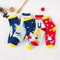 1 Par/lote 2015 Venta Caliente Impresión de La Moda Otoño Invierno Cálido Algodón Niñas Calcetines Azul Rojo Señora Calcetines Meias Ocasional A080