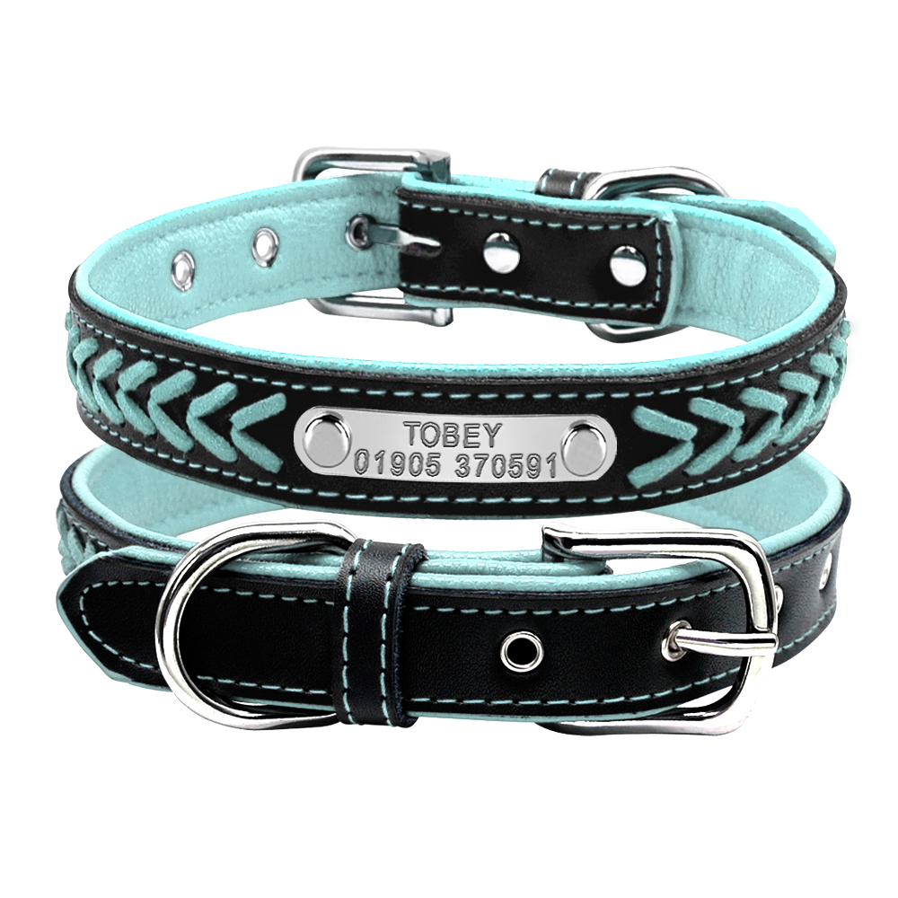 Personalized Leather Collars For Pet Dogs Cats Free