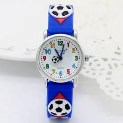 Высокое качество водостойкие Детские Силиконовые наручные часы футбольные брендовые кварцевые наручные часы детские для девочек