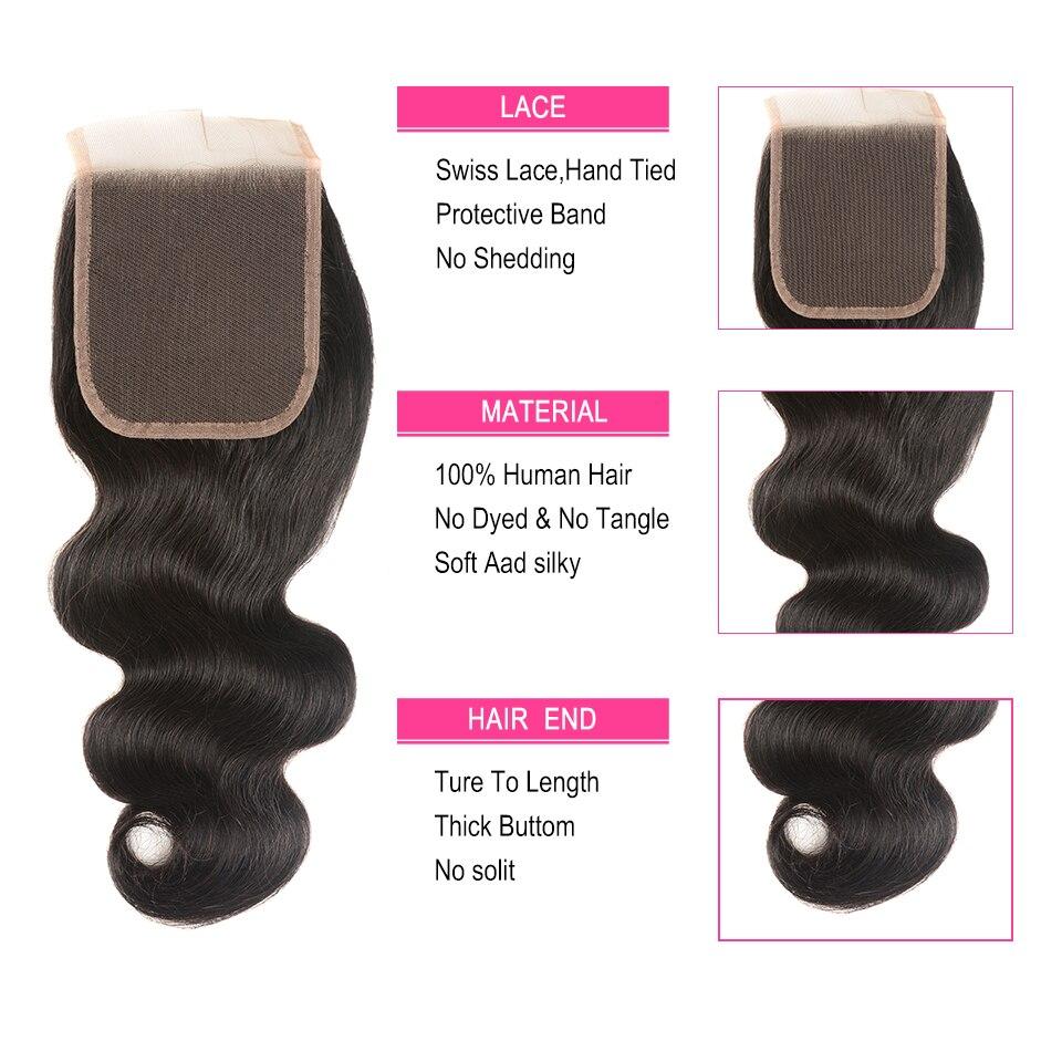 Περουβιανές δέσμες κύματος σώματος - Ανθρώπινα μαλλιά (για μαύρο) - Φωτογραφία 5