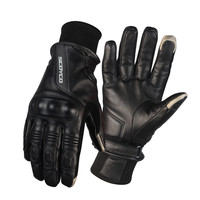 Goat Leather Retro Motorcycle Gloves Protective Shell For Men Keep Warm Windproof Gloves Moto Racing Touch