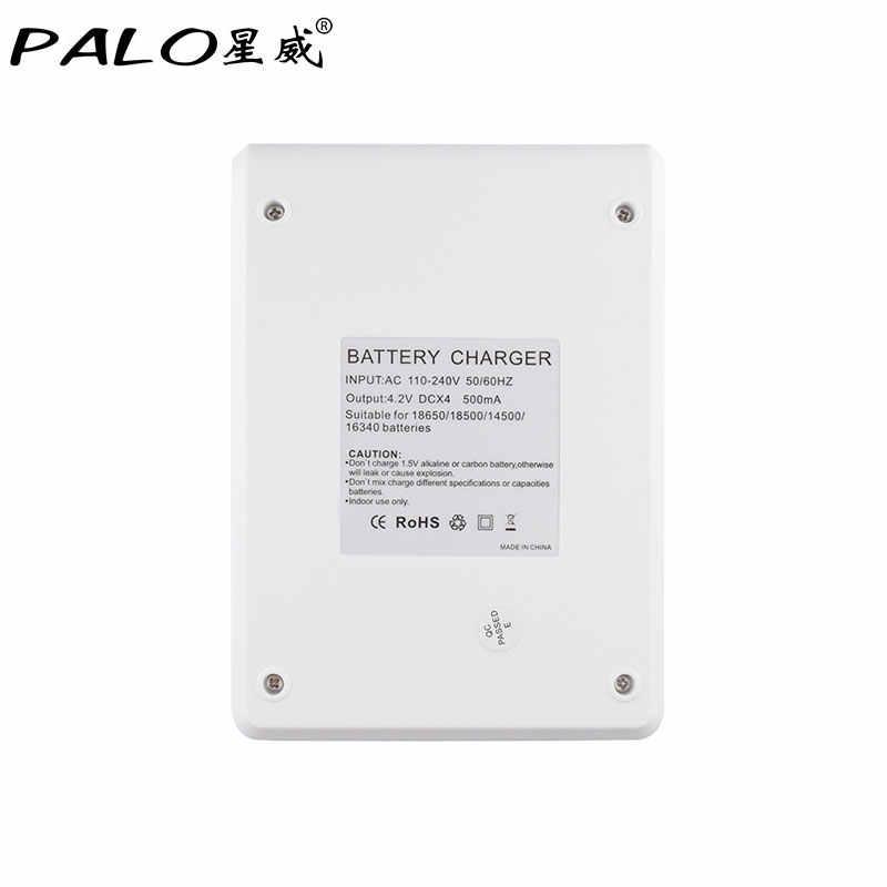 PALO 4 solts интеллектуальная быстрая 18650 батарея зарядное устройство индикатор зарядное устройство + 4 шт 18650 Rechaegeable батареи