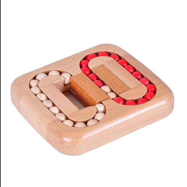 Let's make New Wooden Toys Brain Game Montessori Toys Flat Ball Maze IQ Pearl Logical Mind Game Brain Teaser Toys wooden iq brain teaser education toy