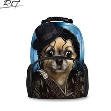 Fashion 3D Printing Animals Backpacks Dogs Backpacks High Quality Cute Pirates Dogs Bags Tourism Backpacks Student Bags