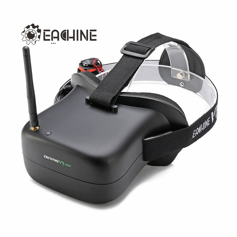 ФОТО 2017 New Arrival Eachine VR-007 VR007 5.8G 40CH 4.3 Inch HD FPV Goggles Video Glasses With 7.4V 1600mAh Battery