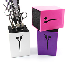 6color for choose Professional Hair Comb Scissor Case Salon Hair Tools Hair Scissor Holder For Barber Scissor Socket Storage Box