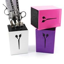 6color for choose Professional Hair Comb Scissor Case Salon Hair Tools Hair Scissor Holder For Barber Scissor Socket Storage Box