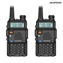 2 قطعة Baofeng UV-5R اتجاهين راديو البسيطة المحمولة 5W المزدوج الفرقة VHF UHF اسلكية تخاطب UV5R FM جهاز الإرسال والاستقبال الصيد هام راديو ماسحة