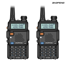 цена на 2Pcs Baofeng UV-5R Two Way Radio Mini Portable 5W Dual Band VHF UHF Walkie Talkie UV5R FM Transceiver Hunting Ham Radio Scanner