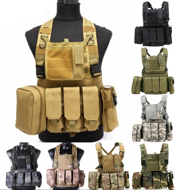 CQC RRV Molle Airsoft Tactical Vest Military Combat Assault Chest Rig  Paintball Police Body Armor Hunting 3e788ae0760d